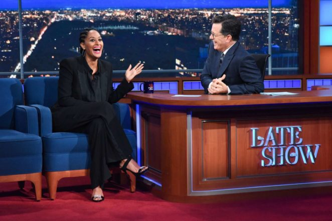 Tracee Ellis Ross on Stephen Colbert