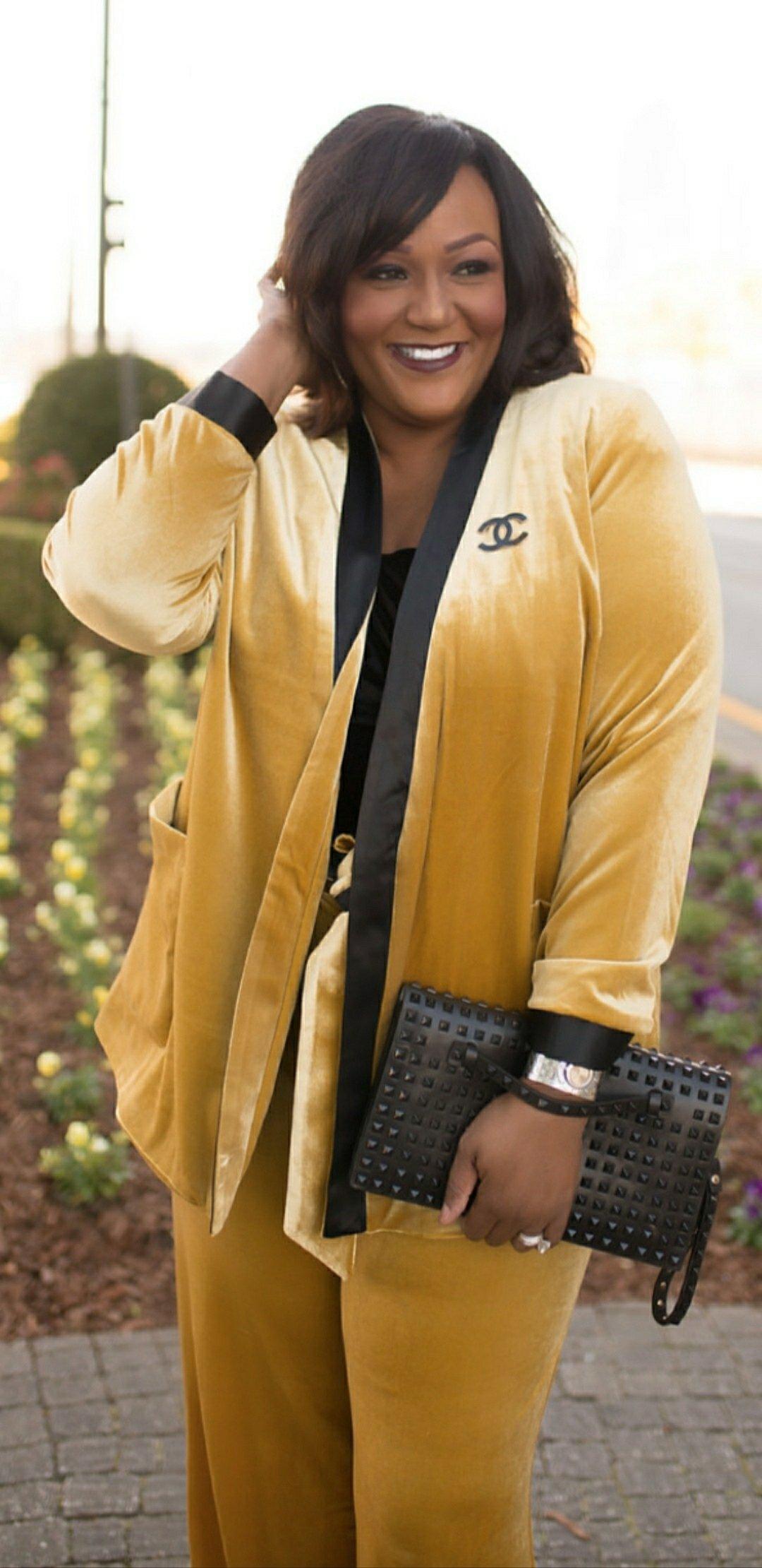 Gold Velvet Suit