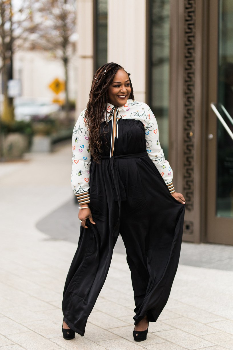 Blogger NikkiFree Remixes An Eloquii Blouse