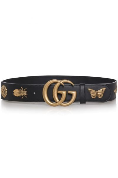Gucci GG Animal Stud Leather Belt