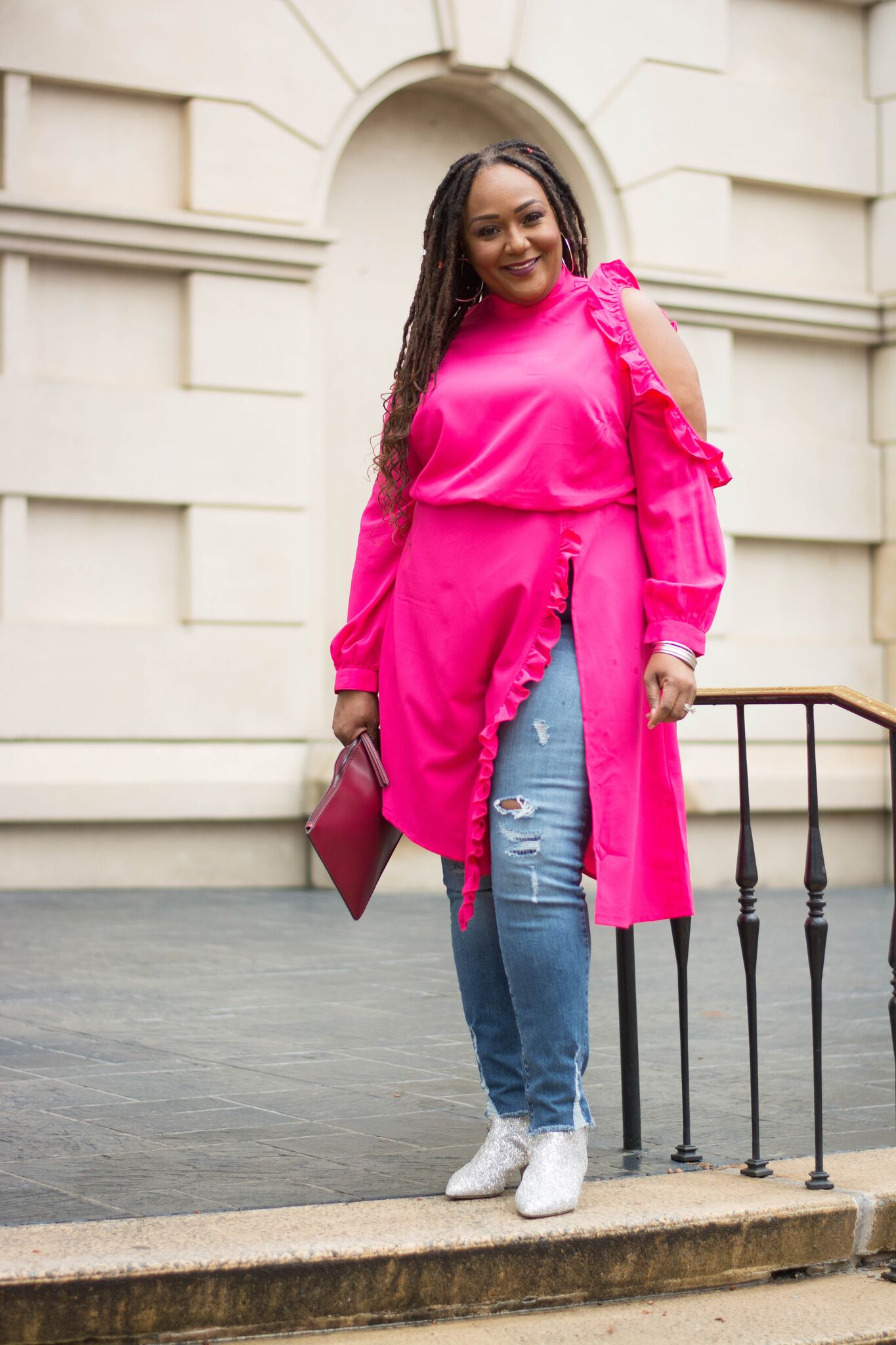 How To Wear A Dress Over Jeans